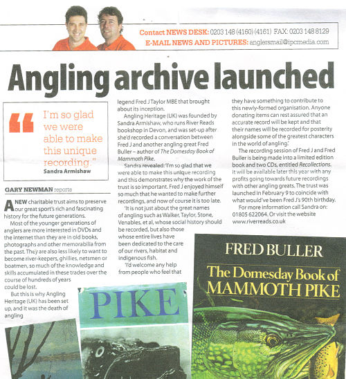 Anglers Mail archive launched